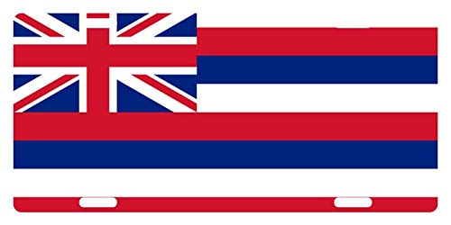 License Plate Covers Hawaii State Flag Hawaiian Emblem Novelty Custom Decorative Front Car Tag Plate Cover for US Vehicles