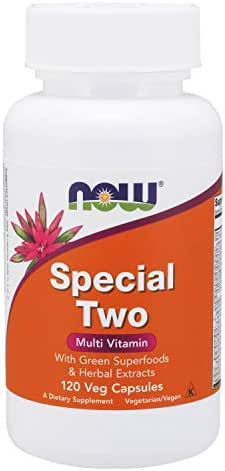 NOW Supplements, Special Two with Green Superfoods & Herbal Extracts, 120 Veg Capsules