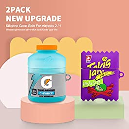 [2Pack] for Airpod 2/1 Sport Water & Takis Potato Chips Airpods Case, 3D Fun Cute Fashion Food Protective Skin…