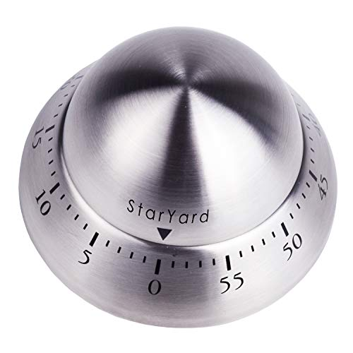 imers Stainless Manual Analog Magnetic Countdown Timer 60 Minutes Alarm Sound Cooking Timer ()