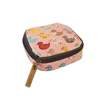 Myhouse Colorful Ducks Pattern Coin Purse Women Girls Waterproof Zipper Mini Wallet