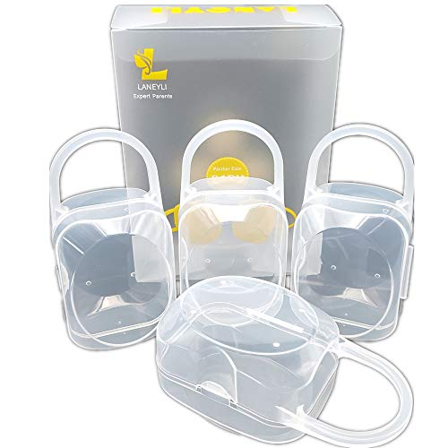 LANEYLI Pacifier Box Pacifier Shield Case Pacifier Clip Holder - Pack of 4