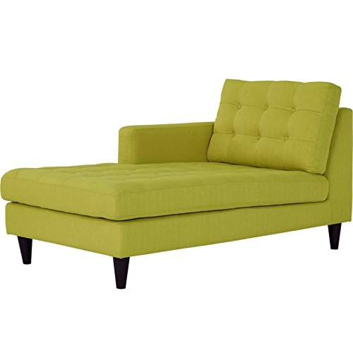 (Modern Contemporary Urban Design Living Lounge Room Left Arm Chaise Lounge Chair, Green,)