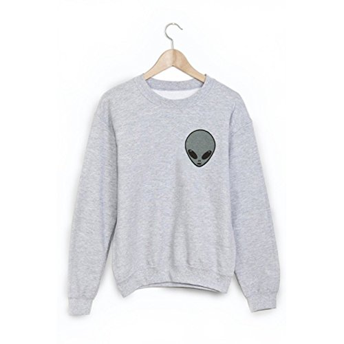 Sweat-Shirt imprimé extra terrestre ref 1826 - XL