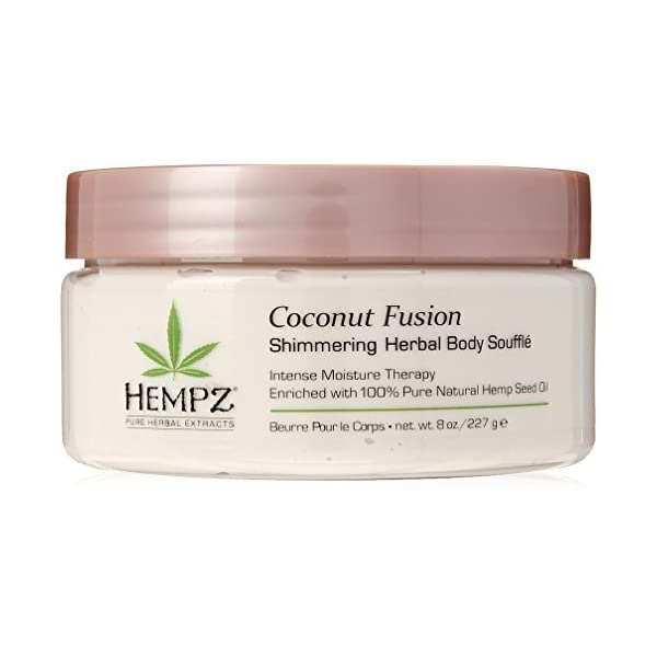 Hempz-Coconut-Fusion-Herbal-Shimmering-Body-Souffle-8-oz-Moisturizing-Shea-Butter-Lotion-for-Instant-Hydration-Skin-Care-Scented-Beauty-Products-for-Women-and-Men-Whipped-Hemp-Body-Cream