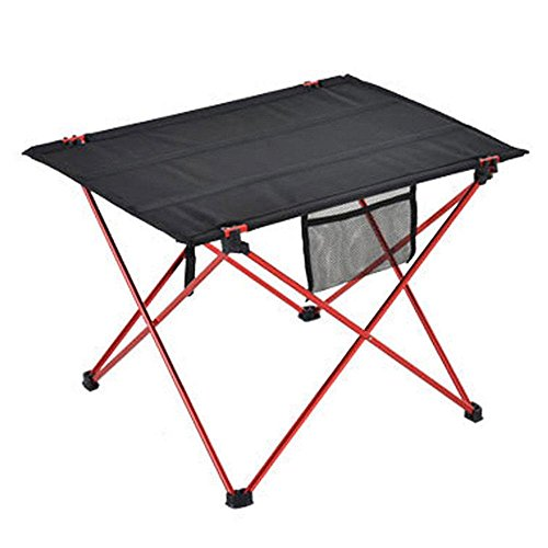 Aolvo Folding Picnic Table - Outdoor Garden Adjustable Aluminum Desk - Camp Portable Folding Table Lightweight by Aolvo