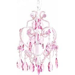Tadpoles CCHAPL004 Cchapl004 3 Bulb Mini Chandelier - Pink Sapphire