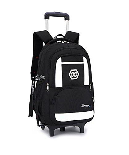 9da6058e73 Kids Rolling Backpack Phaedra FU Luggage Six Wheels Trolley School Bags  (White) - Buy Online in Oman.