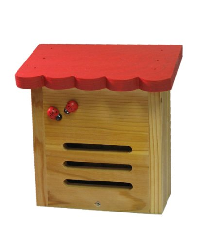 Nature Gift Store Hand-Painted Red Roof Ladybug House-Hand-Made in Wisconsin