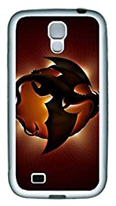 Brian114 Samsung Galaxy S4 Case, S4 Case - Slim Ultra Fit Soft Rubber Case for Samsung Galaxy S4 I9500 Fly Dragon Popular Design White Back Cover for Samsung Galaxy S4 I9500