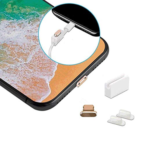 Sakula Aluminum Material Anti Dust Plugs for iPhone Xs Max,XR,X,8,8 Plus,7,6s, 5s,iPad Mini,Air - Plugs Aluminum Dust