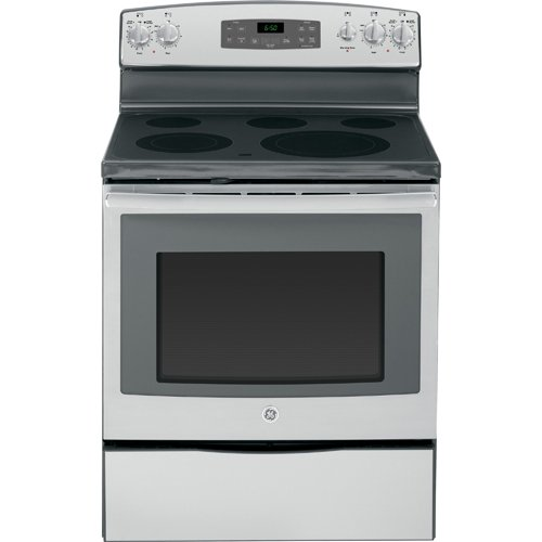 GE JB650SFSS 30'' Stainless Steel Electric Smoothtop Range by GE