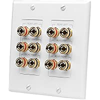 OSD Audio WP12 12 Terminal 5.1 Home Theater Speaker Decora Binding Post Wall Plate