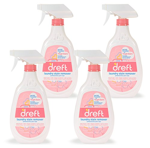 Dreft Baby Laundry Instant Stain Remover Spray for Clothes, 22 Fluid Ounce (Pack of 4) ()