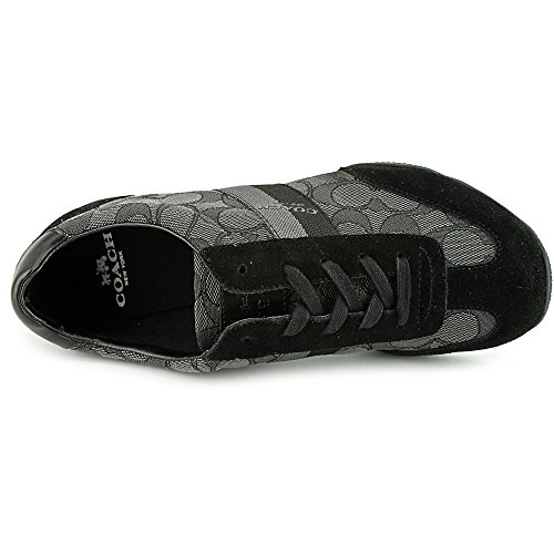 Coach Womens Kelson Low Top Lace Up Fashion Sneakers Black-smoke/Black NiP5F