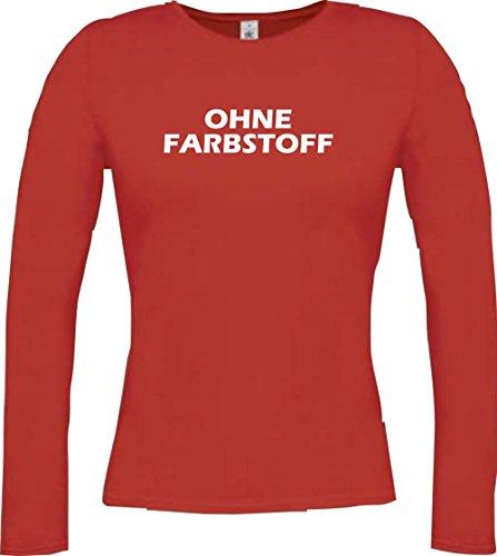 Krokodil - Camiseta - Casual - Cuello redondo - Manga Larga - Mujer Rojo