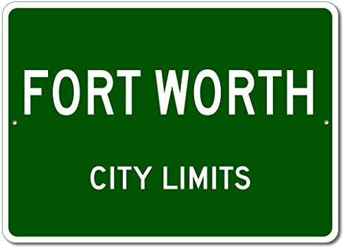 Fort Worth, Texas - USA City Limits Street Sign - Aluminum 10