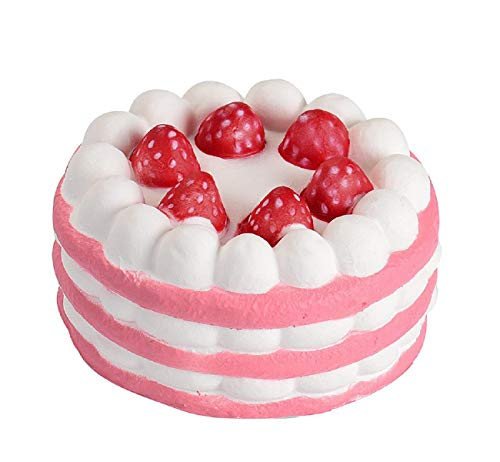 Vertily Lovely Toy Stress Relief Toy Mini Strawberry Cake Stress Anxiety Reliever Slow Rising Cream Scented Decompression Cure Toy Squeeze Toys for Adults and Kids Toys Decoration