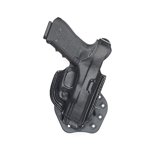 Aker Leather Products Flatsider XR17 Paddle Holster 268 Flatsider XR17 Paddle Holster, Plain, Right Hand, Sig Sauer P320, Black
