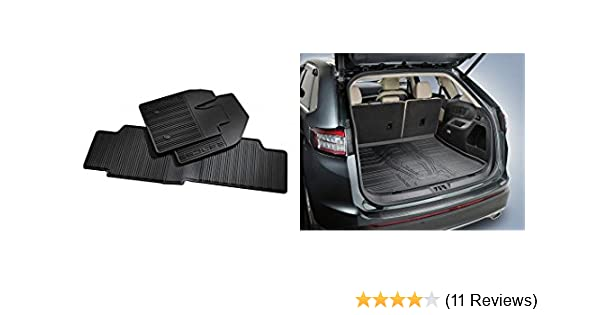 Amazon Com   Ford Edge All Weather Floor Mats Trunk Cargo Protector Liner Mat Oem Automotive