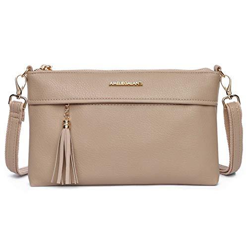Small Crossbody Purse Shoulder Bag for Women Vegan Leather Handbag with Tassel