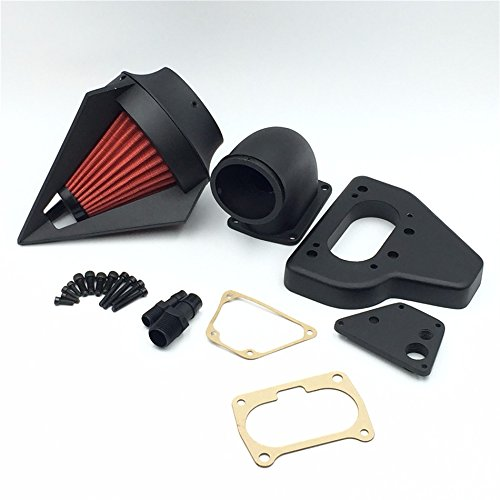 XKH Group Motorcycle Matte Black Triangle Intake Spike Air Cleaner Kits For 2002 2009 Honda Vtx 1800 R S C N F