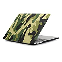 RYGOU Camouflage Hard Case Cover for Newest MacBook Pro 13 Inch With & Without Touch Bar Model:A1706 / A1708 (Released in Oct 2016)