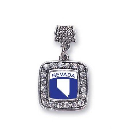 Love Nevada (NV) State Charm Fits Pandora Bracelets & Compatible with Most Major Brands such as Chamilia, Murano, Troll, Biagi and other European Bracelets (Nevada State Charm)