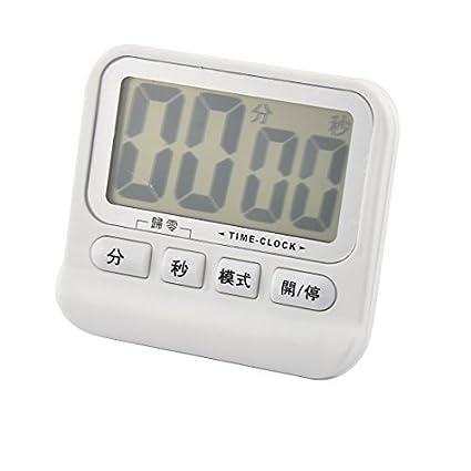 eDealMax ABS rectángulo de pantalla LCD de la forma de cuenta atrás Hasta reloj temporizador Blanca