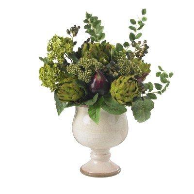 Nearly Natural Silk Artichoke - Nearly Natural Artichoke and Hydrangea Silk Flower Arrangement