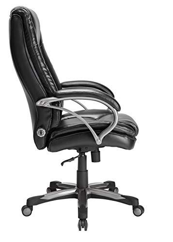 Realspace BTEC 600 Big & Tall High-Back Chair, Black