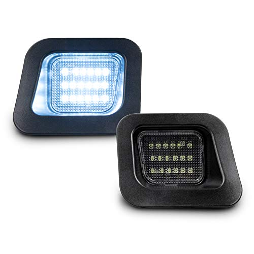 SUBLIME INDUSTRIES Led License Plate Light 8000K Iceberg Blue Lamp Assembly Replacement For 2003-2018 Dodge RAM 1500 2500 3500 Pickup Truck 2-Pieces ()
