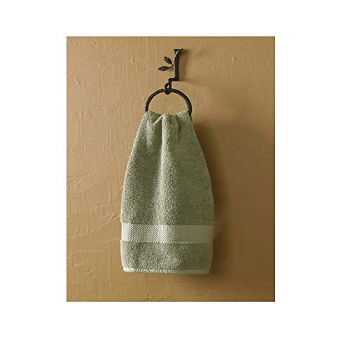 Park DesignsSet of 2 Nature Walk Ring Hand Towel Holders 4.5 Inches in Diameter Ring. 9 Inches Tall By 3 Inches Long by 4.5 Inches Wide