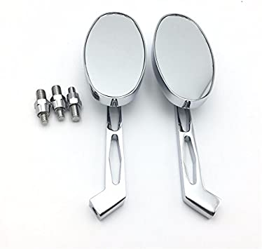 HTT Group Motorcycle Chrome Skull Side Mirrors For 1984 and up Harley Davidson Touring Street Glide Road Glide Special Electra Glide Ultra Classic Ultra Limited