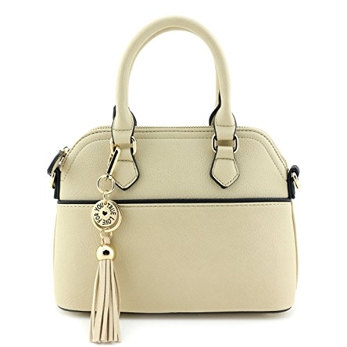 mini-dome-satchel-crossbody-bag-with-tassel-accent-wheat