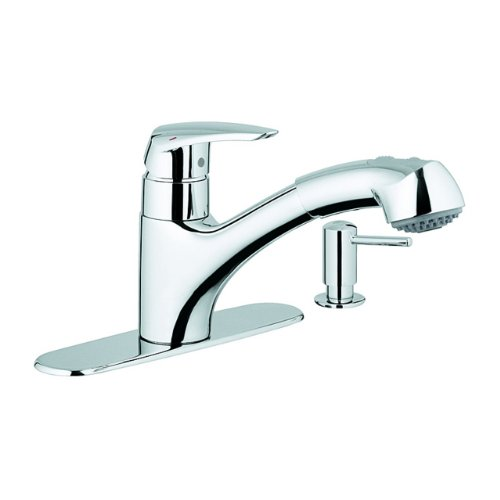 Grohe 30127000 Kitchen Faucet with Dual Spray Pull-Out Spout and ...