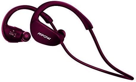 Mpow Cheetah Auriculares Estéreo In-ear Deportes Tecnología aptX Avanzada Bluetooth 4.1 Correr Cascos Deportivos Manos Libre, Auricular Inalámbrico para iPhone,iPad,Teléfono Móvile Android-Rojo morado