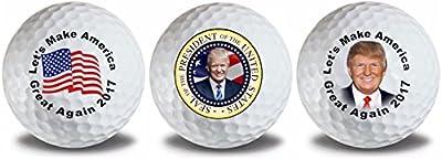 Trump Seal Flag Golf Balls 3 Pack