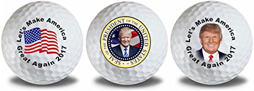 America Golf Balls (Trump Seal Flag Golf Balls 3 Pack)