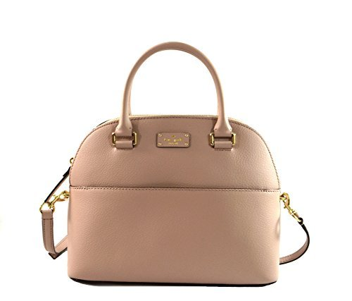 Kate Spade Grove Street Carli Leather Crossbody Bag Purse Satchel Shoulder Bag (Almondine)