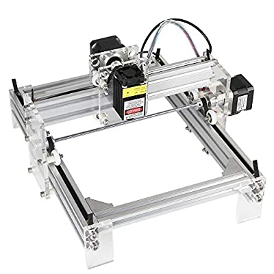 INLOVEARTS Laser Engraving Machine DIY Kit Carving Instrument CNC Laser Engraver Kits for Cutting CNC Printer Desktop Wood Cutter for Beginners 2500mW