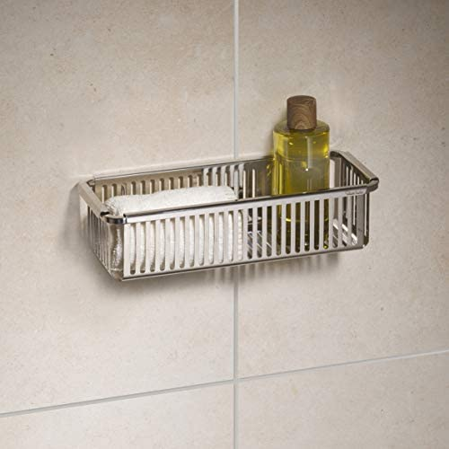 Robert Welch Burford Shower Basket Single. Made from high quality stainless steel. Easy Clean. 25-Year Guarantee.