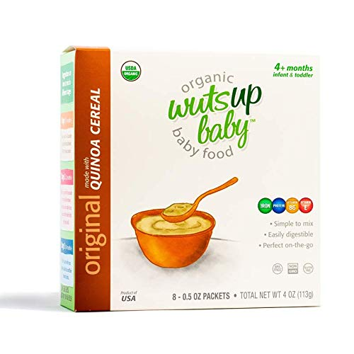 3pk 8X Organic Original Quinoa Infant & Baby Cereal Travel Packs w/Naturally Rich in Vitamins & Mineral, Complete Protein. Easiest First Foods to Digest. by WutsupBaby – 4oz (8 Pack x 0.5oz)