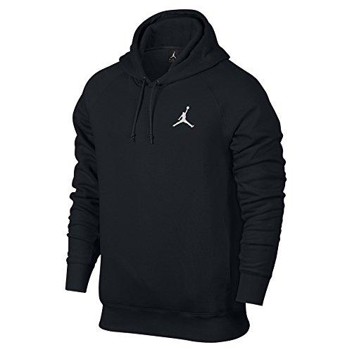 Nike Mens Jordan Flight Pull Over Hooded Sweatshirt Black/White 823066 010 Size Large