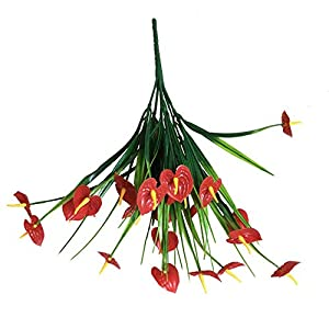 Bright Sun Beautiful 1 Bouquet Artificial Anthurium Flower Fake Plant Wedding Party #GRTY 58