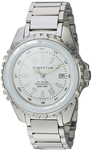 Momentum Women's Quartz Stainless Steel Diving Watch, Color:Silver-Toned (Model: 1M-DN63WS0)