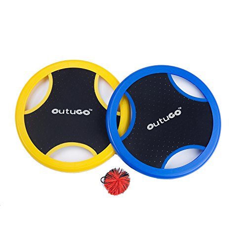 OUTUGO Trampoline Disc Paddle Game Set for Outdoors, Backyard, Lawn, BBQ, Kids & Adults by OUTUGO