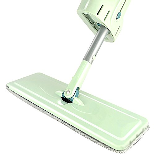 LWFB Flat Mop/Free Hand Wash/Stainless Steel Microfiber/Putter Dehydration/Wet And Dry Dual Use/Rotating Mop(Mop Cloth Quantity Optional) ( Size : 1# )