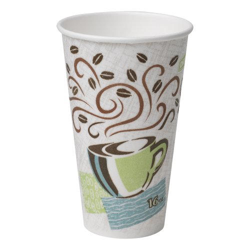 PerfecTouch 5356CD Insulated Paper Hot Cup, New Coffee Design, 16 oz (Case of 20 Sleeves, 50 Cups per Sleeve) by Dixie