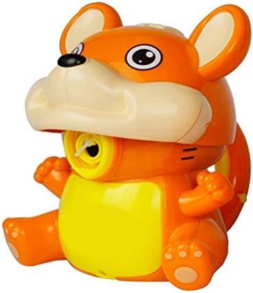 Grokebo 電気バブルマシン ハムスタ シャボン玉製造機 音楽とライト付き お風呂おもちゃ バブルメーカー ハムスター玩具 音楽おもちゃ 子供バブルマシーン 知育玩具 誕生日 プレゼント